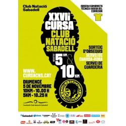 XXVII Cursa Club Natació Sabadell (5/10 KMs) (05/11/17, 10:00h)